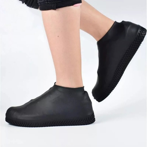 Capa Chuva Sapato Tenis Moto Protetor Silicone Calçado Kit4
