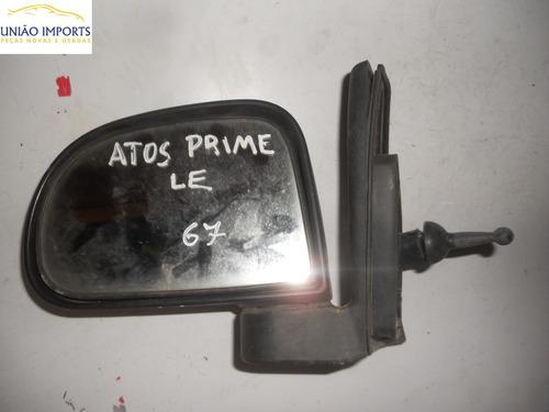 Espelho Retrovisor Manual Hyundai Atos Prime L/e Nº67