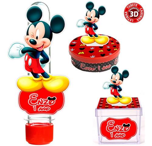 Kit 30 Mickey [tubete, Latinha E Caixinha] 10 De Cada