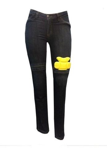 Calça Moto Jeans Com Proteção Hlx Feminina Penelope Azul