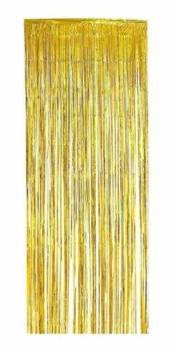 Cortina Metalizada Painel Fitas Metalizadas 2x1m Escolha Cor