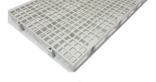 10pc Palete Estrado Plástico Branco 2,5x25x50 Cm