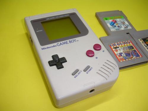 Nintendo Game Boy Classic Original Com 3 Cartuchos