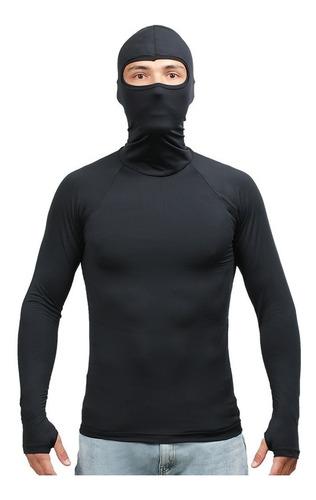 Camisa Térmica Compressão E Retenção De Suor Proteção Uv50
