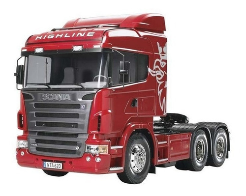 Caminhão Truck Tamiya 1/14 Scania R620 6x4 Highline Tractor