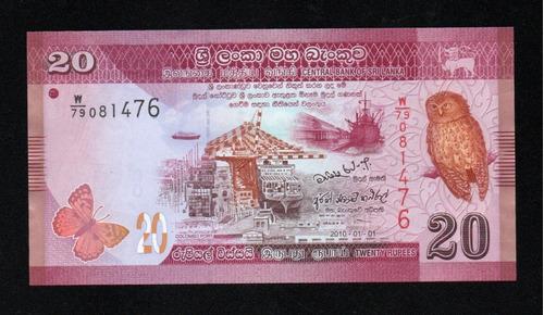 Sri Lanka Billete 20 Rupias Año 2010 P#123