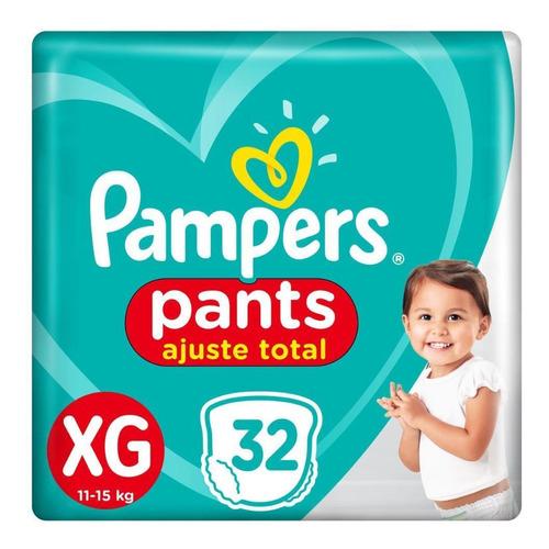 Fralda Pampers Pants Ajuste Total Mega Xg 32 Unidades