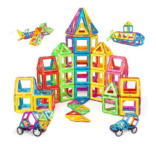 Blocos De Construção Magnéticos Brastoy 68 Peças Brinquedos