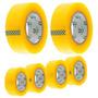 10 Rolos Fita Adesiva Durex Embalagem Transparente 500mts