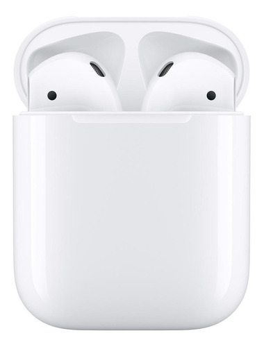 Audífonos In-ear Inalámbricos Apple AirPods With Charging Case (2nd Generation) Blanco