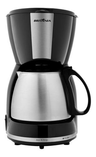 Cafeteira Britânia Inox 15 Temp Semi Automática Preta De Filtro 127v