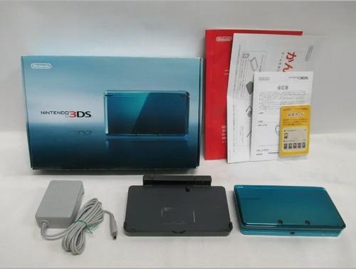 Nintendo 3ds Old Aqua Blue Japones Na Caixa