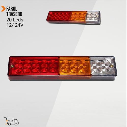 Farol Trasero 20 Led 12/24 V Camiones - Maquinas - Trailers