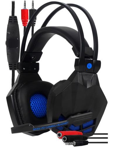 Fone Gamer Headset Stereo Adaptador Celular Jogo Pc Ps4 Xbox