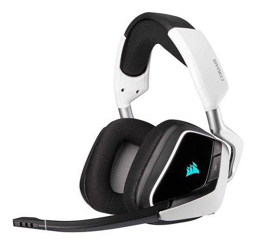 Auriculares Gamer Inalámbricos Corsair Void Elite Wireless Blanco Con Luz  Rgb