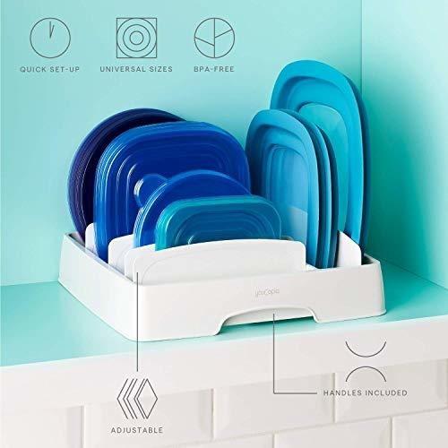 Medium Food Container Lid Organizer - Ecart