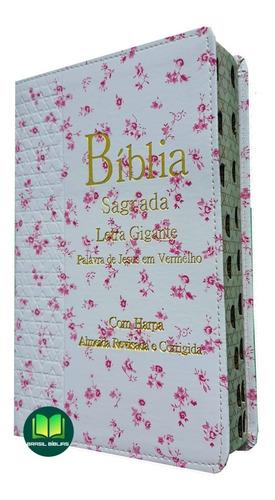 Bíblia Sagrada Com Harpa Cristã Letra Gigante