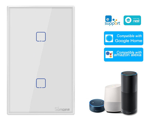 Sonoff T0us2c-tx 2 Gang Inteligente Wifi Interruptor De Luz