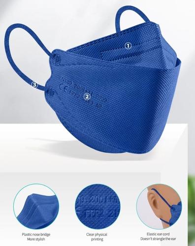 Máscara Proteção Respiratória Kn95 Ffp2 N95 Boca De Peixe 3d