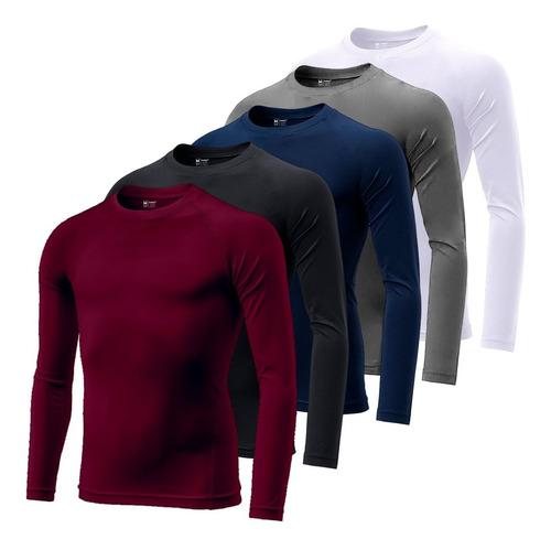 Camiseta Uv Dry Masculina Manga Longa Térmica Proteção Solar