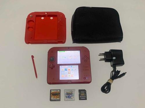 Nintendo 2ds Completo Com Jogos Game Top