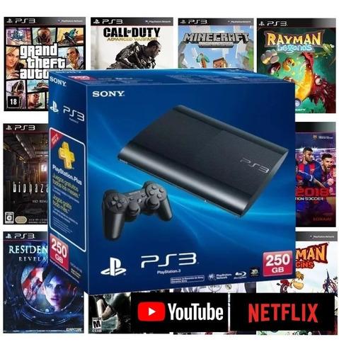 Ps3 Playstation 3 Bloqueado Super Slim Ou Slim Gta5 10 Jogos