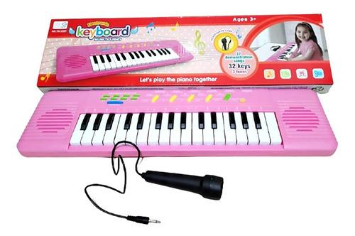Teclado Piano Infantil - Musical Resistente 37 Teclas