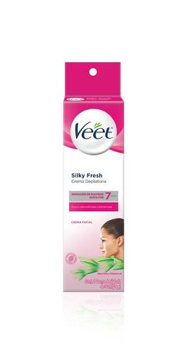 Crema Depilatoria Veet Silky Fresh Para Rostro Piel Normal 30ml