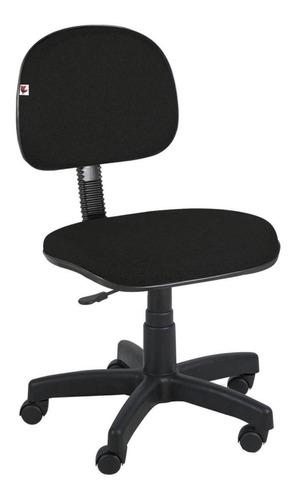 Cadeira De Escritório Shop Cadeiras Secretária Giratória Tecido  Preta Com Estofado Do Polipropileno