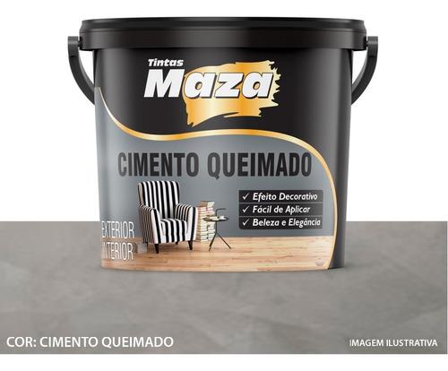 Cimento Queimado Para Paredes 5,6kg Premium Maza - Original