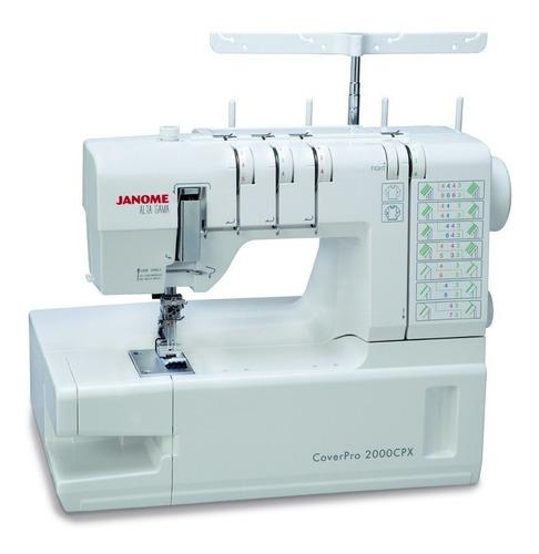 Máquina De Coser Semi Industrial Janome Cover Pro 2000cpx Blanca 220v