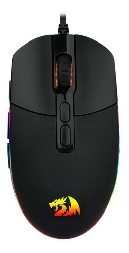 Mouse De Juego Redragon  Invader M719-rgb Negro