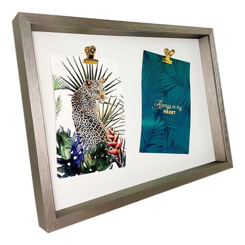 Porta Retrato 10x15cm Família 2 Fotos Amor Horizontal Mesa