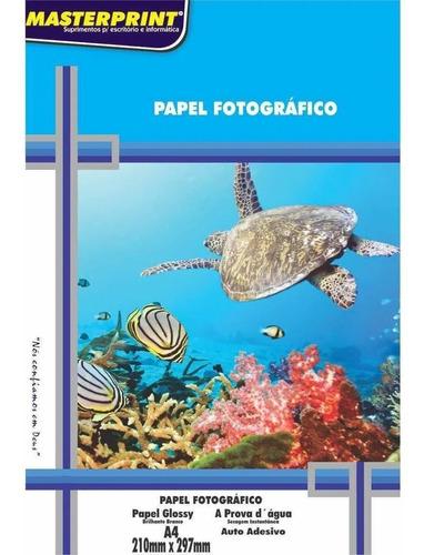 Papel Fotográfico Adesivo A4 Glossy 115g 100 Fls Masterprint