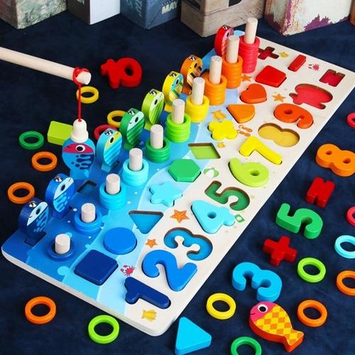Montessori Brinquedos De Madeira Educativos Para Crianças Bo
