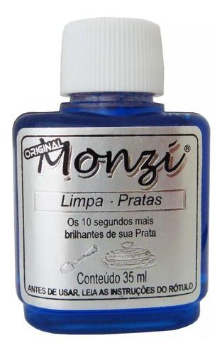 Kit 10 Unidades Limpa Prata Monzi 35ml Pronta Entrega Brilho