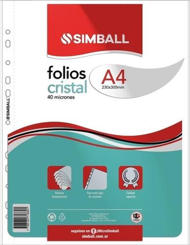 Folios Simball A4 40 Micrones X 20 Unidades