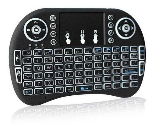 Mini Teclado Smart Tv Bluetooth Retroiluminado Recargable