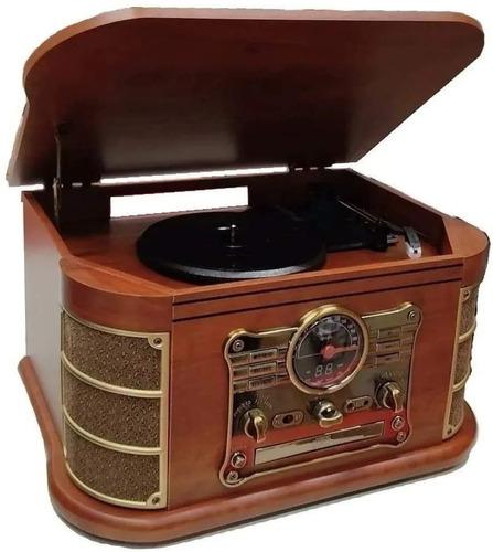 Vitrola Spazio Vitrola Vinil Cd K7 Bluetooth Retrô Vintage