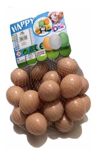 Kit 12 Ovos Falso Brincadeira De Plástico Para Indez Galinha