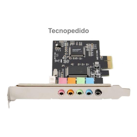 Placa Sonido Pci Express 5.1 Sound Audio Pc 6 Canales