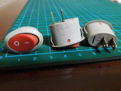 Interruptor Llave Tecla Ovalada Electronica Para Estufas Etc