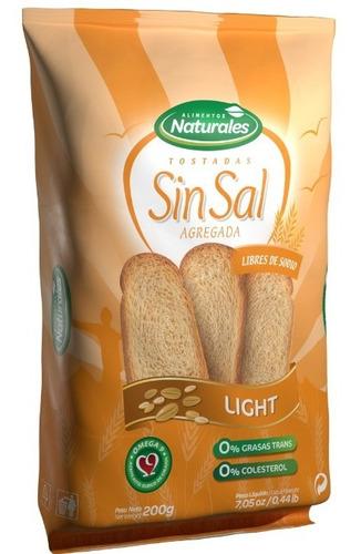 Tostadas Naturales Sin Sal En Caja X 12