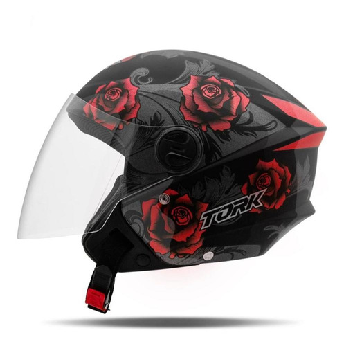 Capacete Feminino Aberto Moto Pro Tork New Liberty 3 Flowers
