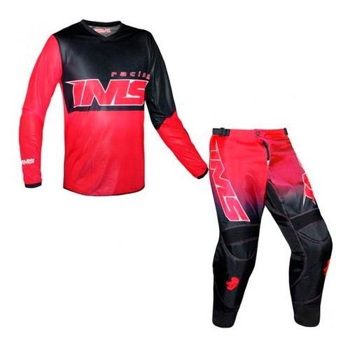 Conjunto Roupa Ims Army 2021  Vermelho Motocross Kit Trilha