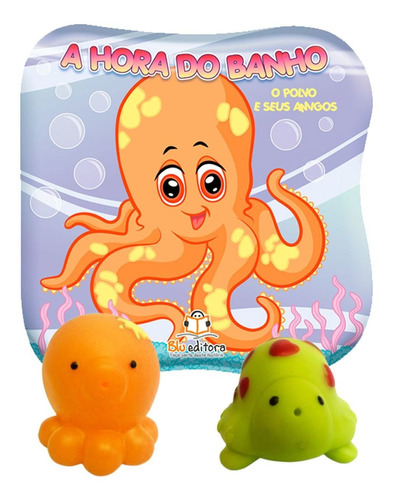 Livro Banho Infantil Bebe 2 Brinquedos Bichinho Esguicho