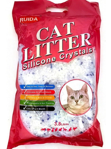 Sílica Gel Gatos Sanitaria Cat Litter 7.6 Litros