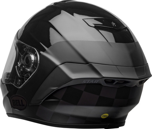 Capacete Bell Star Dlx Mips Lux Checkers Root Beer viseira