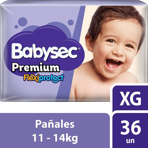 Pañales Babysec Premium  Extra G. Paq. X 36
