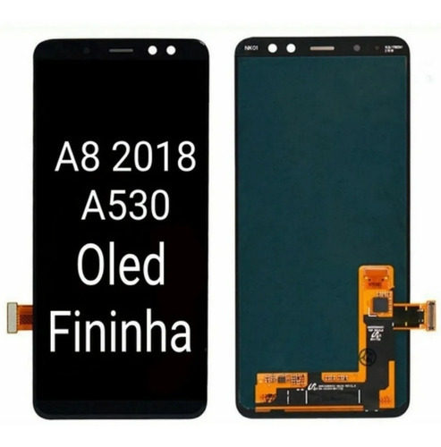 Tela Display Samsung A8 2018 A530f Amoled 100% Original Nova